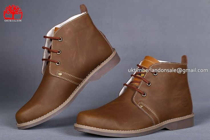 Timberland 3 Eye Brown Chukka Casual Boots For Men $ 78.00