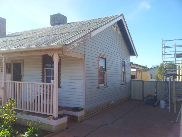 Renovation Side House Colorbond Dune First Coat. House CladdingCladding  IdeasDune