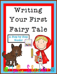 This file is a 20 page download that walks your student through 13 steps in creating a fairy tale. Included you will find 13 planning sheets for developing elements in a fairy tale like, characters, greed, mistakes, warnings, dialogue, magic, and setting. You will also fine a My First Fairy Tale writing packet for your students to create their tale while referring to the planning sheets.