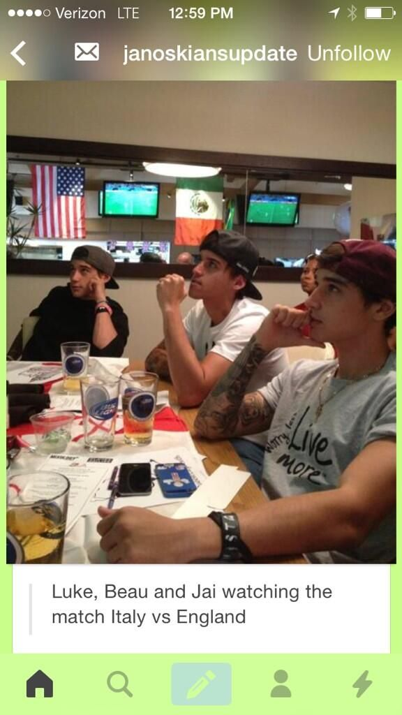 The Janoskians are watching the worldcup 2014