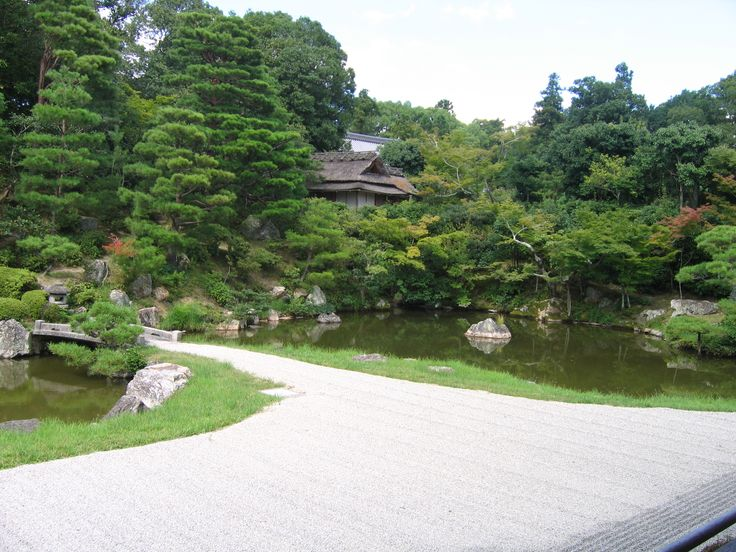 Giardino in Tempio Buddista - Kyoto, Giappone