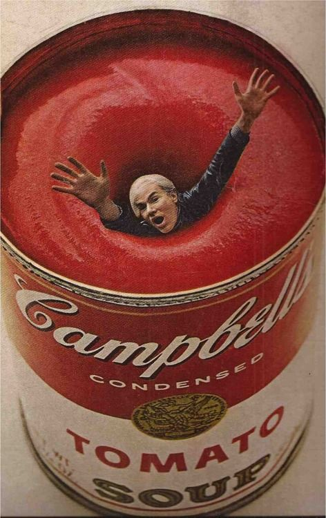"""Andy Warhol, """"Esquire"""" magazine, 1969. This was done way before Photoshop so this is pretty amazing!"""