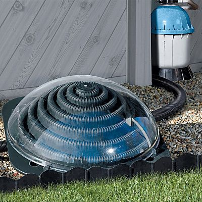 Solar Pool Heater - do some research on this. Some solar heaters aren't very reliable...