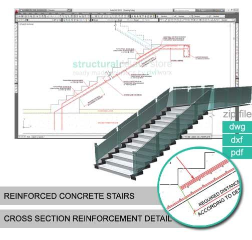 Reinforced Concrete Stairs Cross Section Reinforcement
