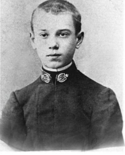 Vaslav Nijinsky, as a young boy