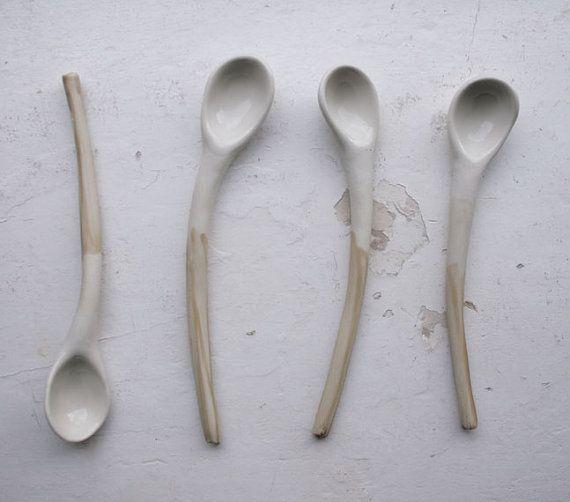 custom order for Jaime-ceramic spoons via Etsy