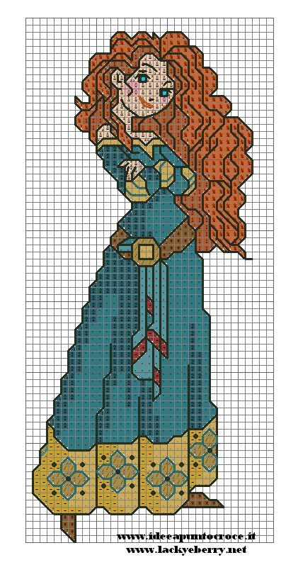MERIDA brave cross stitch