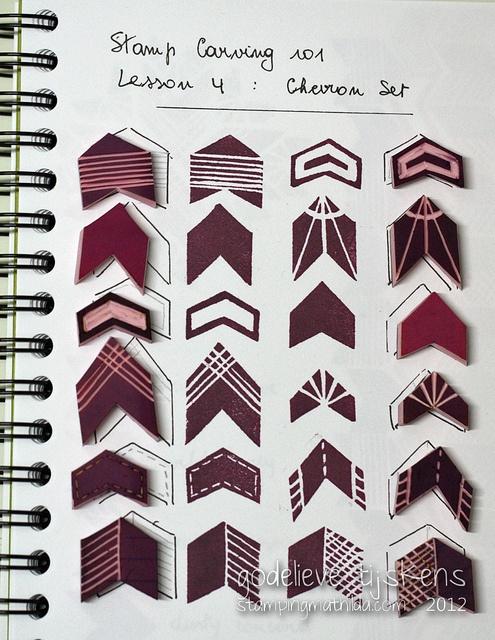 geometric stamps & prints