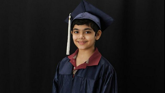 """A California boy, 11, just graduated from college with three degrees. Tanishq Abraham says his dreams are to become a doctor, a Nobel Prize-winning medical researcher, and President of the United States. Abraham graduated from American River College in Sacramento, possibly the youngest graduate in the college's 60-year history. """"The assumption is that he's the all-time youngest,"""" American River College spokesman Scott Crow told NBC Bay Area on Thursday. """"But we don't have all the archives to…"""