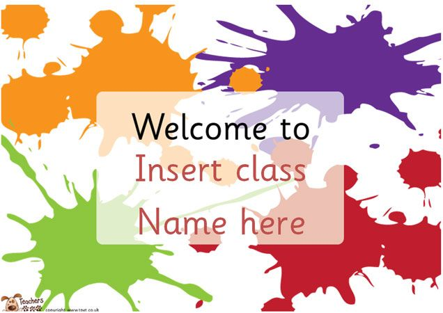 Teacher's Pet - Editable Classroom Welcome posters - FREE ...