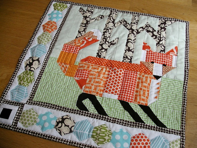 Fox Quilt So Cute For A Baby Quilt Quilts Pinterest