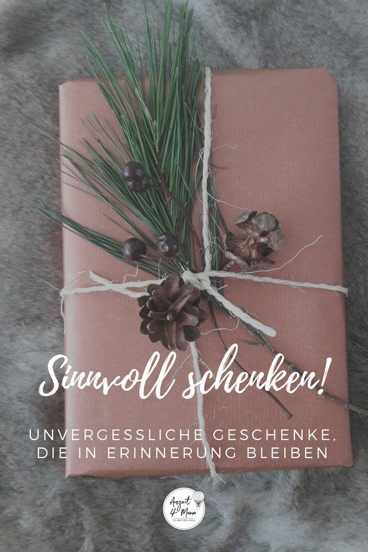 Weißt du noch was du letztes oder vorletztes Jahr zu Weihnachten geschenkt (bekommen) hast? Nein? Dann gehts dir wie mir! Dieses Jahr gibts Geschenke, die in Erinnerung bleiben. Tipps wie man stressfrei und vor allem sinnvoll schenkt