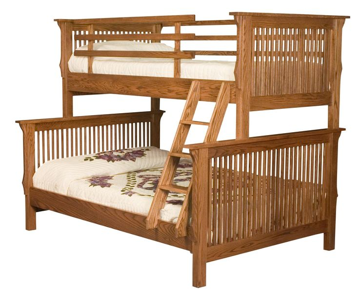 Amish Mission Bunk Bed. This bunk bed set can be a twin-over-twin or twin-over-full set.