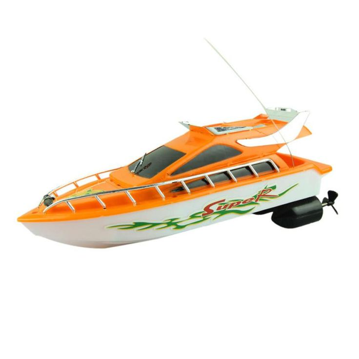 Remote control speed boat Fashion Powerful Plastic Remote Control Boats Speed Electric Toys Model Ship Sailing Children