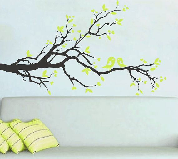 Best Tree Branch Wall Decals Images On Pinterest Tree - Yellow bird wall decals