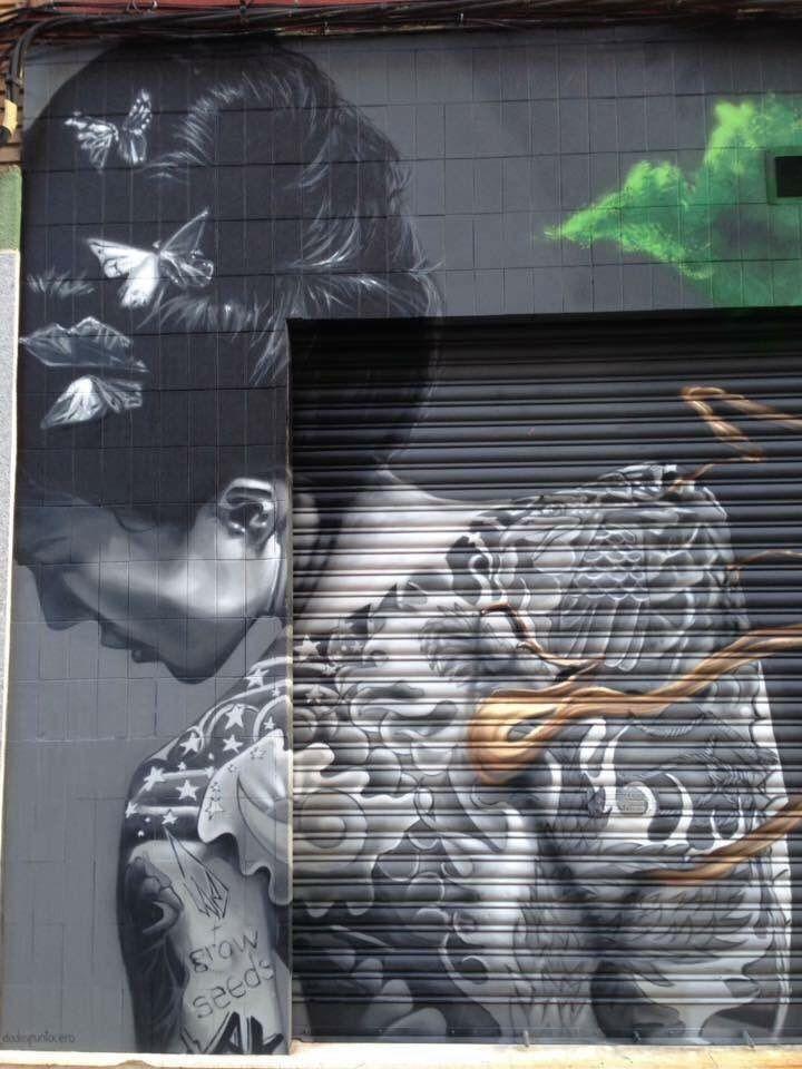New Street Art by Dadospuntocero Found in León Spain #art #mural #graffiti…