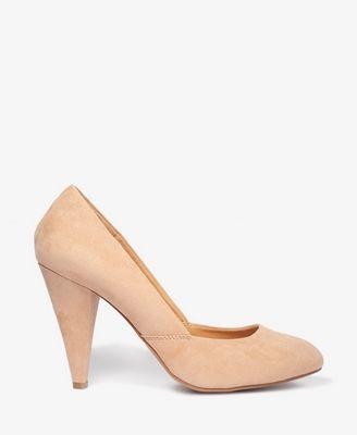 Cone Heel Pumps | FOREVER21 - 2025101189-  Wooohooo!   Been looking for a comfy nude cone heel for work and $22!?  I'll take it.