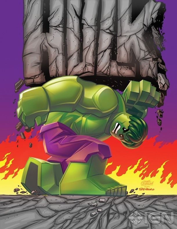 Lego Hulk cover homage (after Steranko)