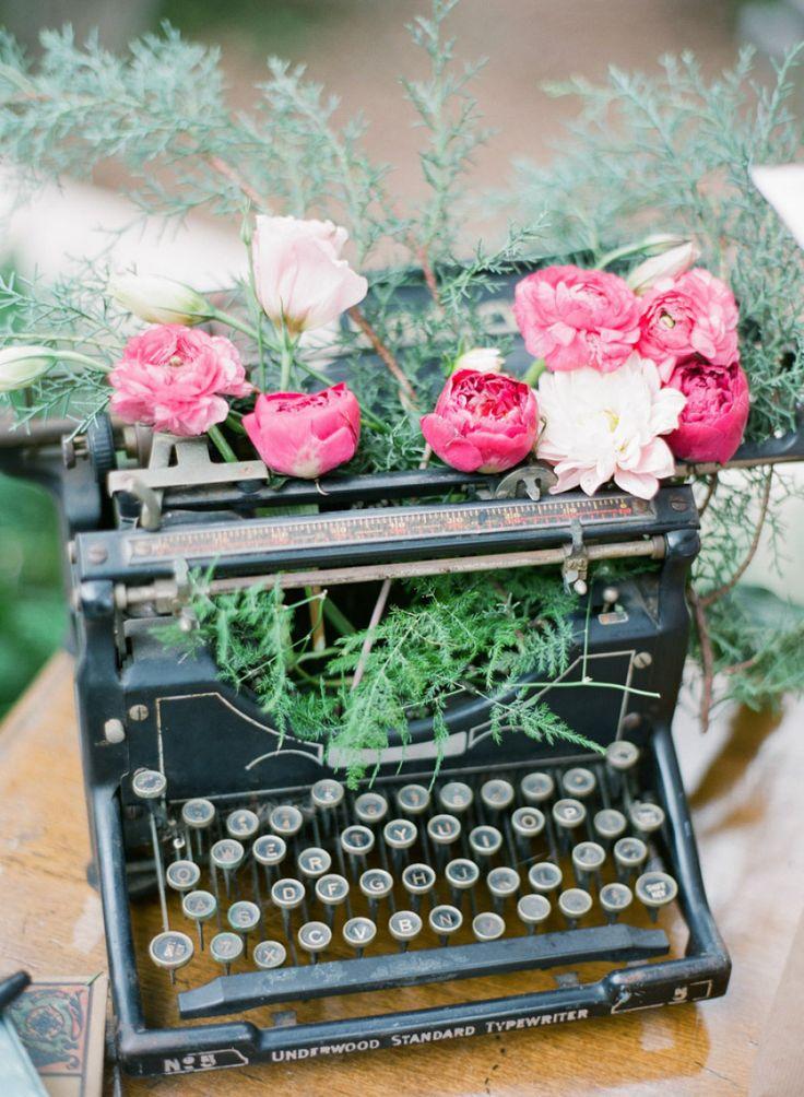 #typewriter Photography by justindemutiisphotography.com  Read more - http://www.stylemepretty.com/2013/09/03/sarasota-wedding-from-justin-demutiis/
