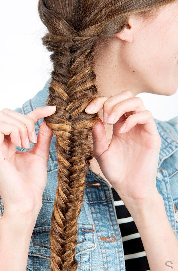 how to make a fishtail plait step by step