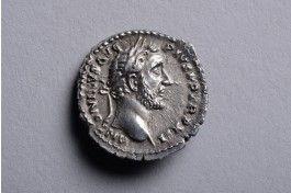 Ancient Roman Silver Denarius Coin of Emperor Antoninus Pius - 145 AD