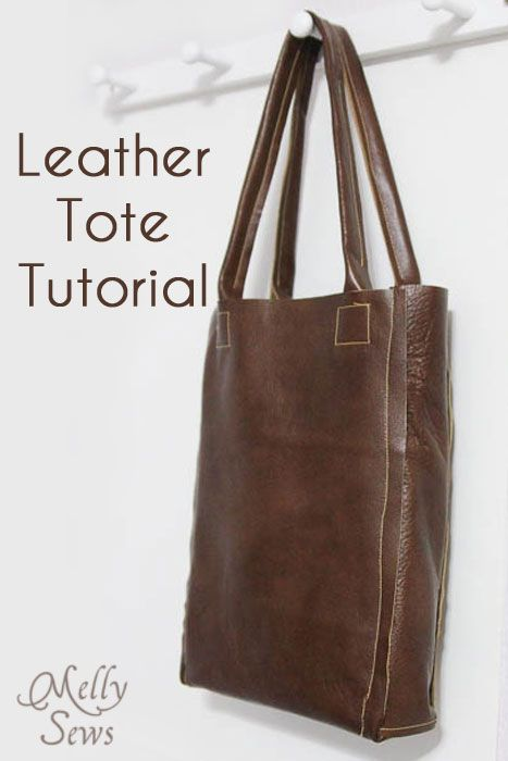 Use leather, pleather, vinyl or other non-fray material to make this stylish bag with this tote bag tutorial.