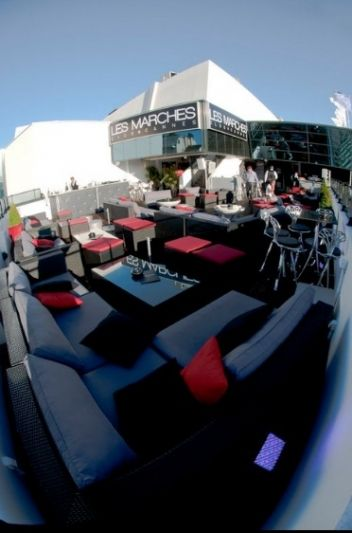 Custom manufacture outdoor furniture for Les Marches Night Club, Cannes, France