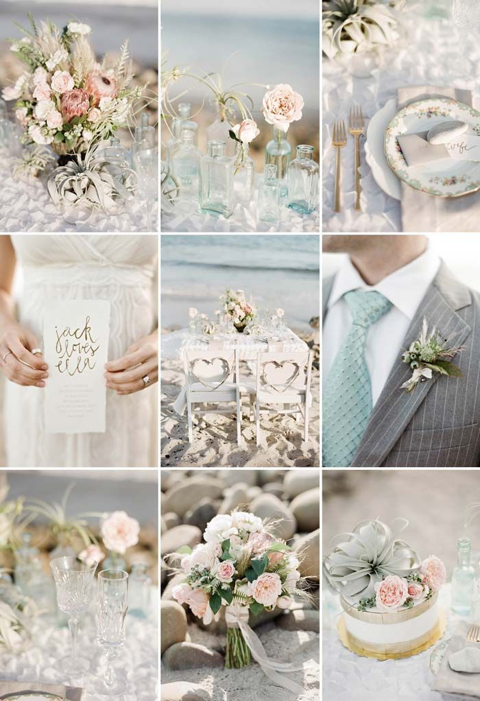 #Beach #Wedding inspiration board featured on the Modern Wedding Blog // Photography: Lavender & Twine Event Designer: Twine Events. For a full list of credits visit http://www.modernwedding.com.au/?p=28049