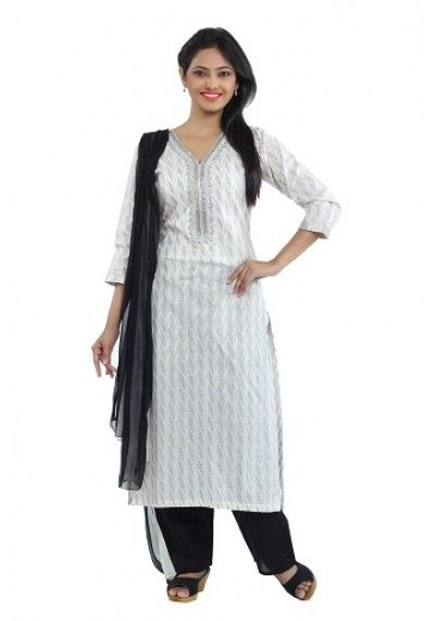 Add more charm and elegance to your femininity wearing this ethnic suit set by SEVENEAST. Made of white jaquard,with beautiful silver embroidery on neck. this ethnic suit set is quite comfortable to wear. Featuring regular fit, this suit set look quite appealing. It comprises a kurta, pant and a double shaded chiffon dupatta. http://www.seveneast.in/index.php?route=product/product&path=81&product_id=123