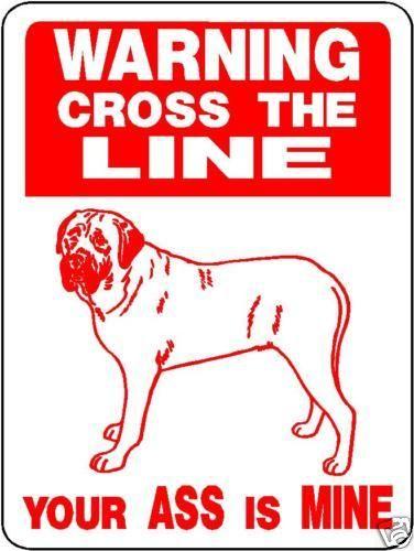 MASTIFF,  GUARD DOG Aluminum Sign Decal d825m