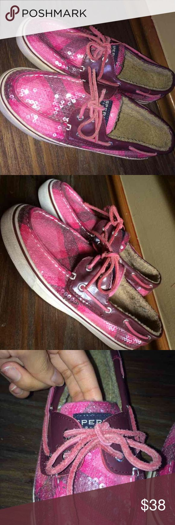 Pink Sperrys Worn only like twice 👍🏽 very cute & comfy Sperry Top-Sider Shoes Flats & Loafers