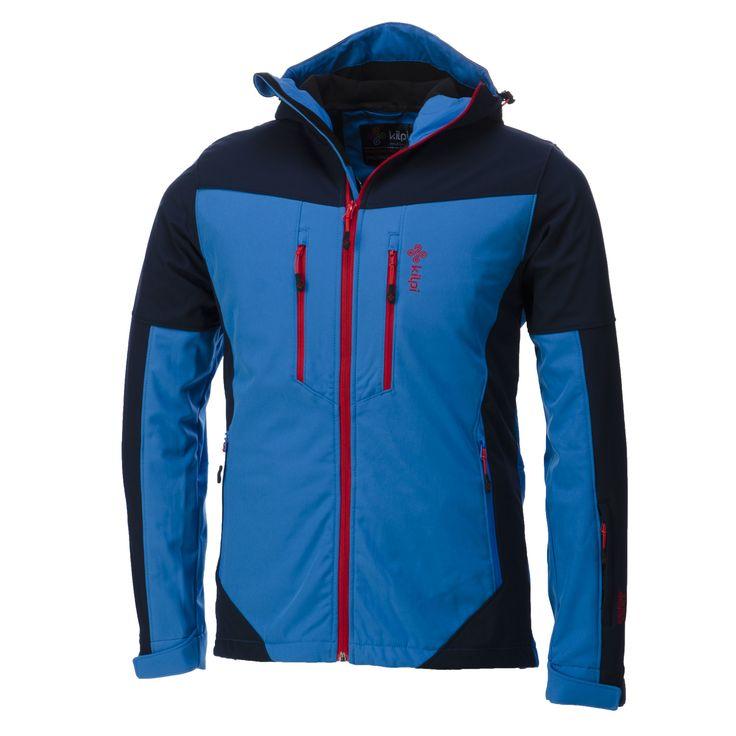 Kilpi, Axis-m, softshell jas, heren, blauw (Ski kleding heren)