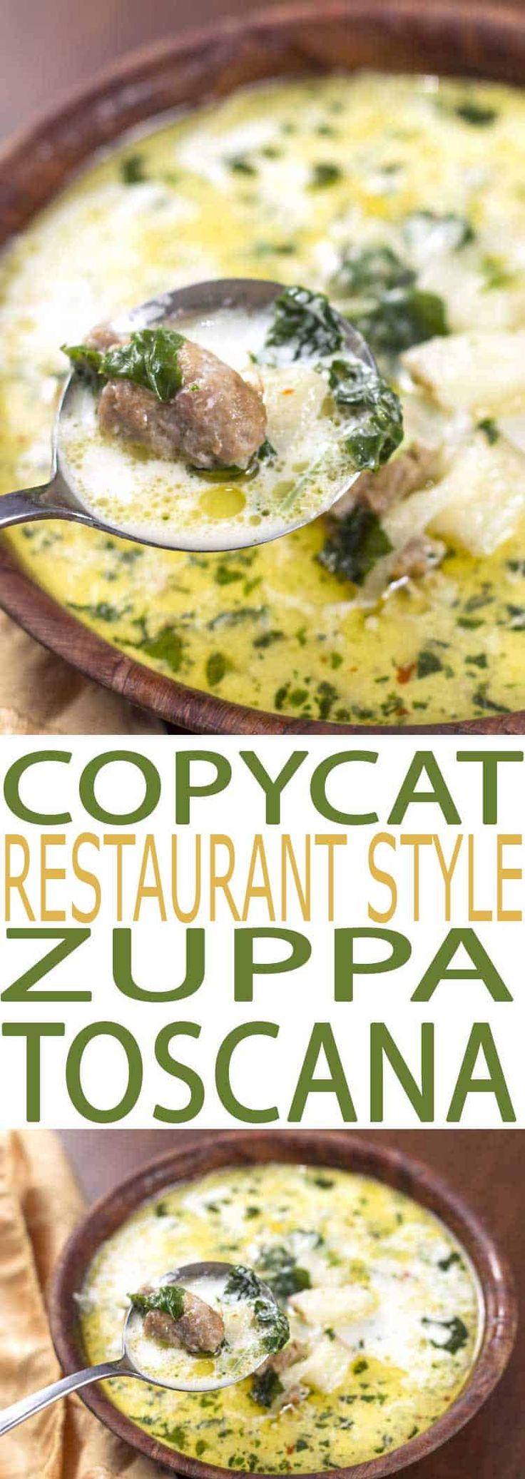*can use honeysuckle turkey sausage* Zuppa Toscana Soup is a flavorful recipe that's both easy to eat and to make. It is filled with healthful kale, a superfood full of essential nutrients.