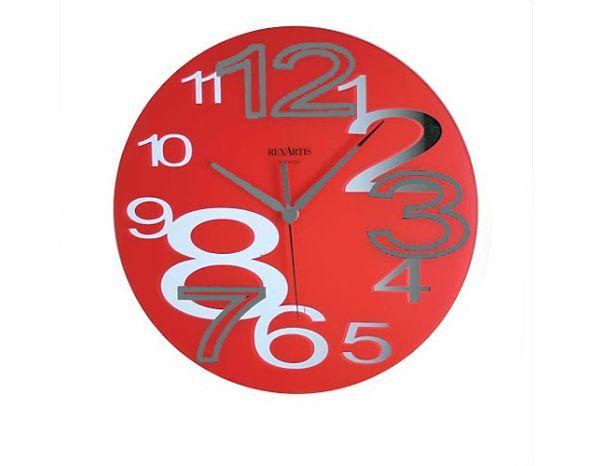 Orologio da Tavolo Rosso, Orologi da Scrivania, per ufficio o casa, colorati