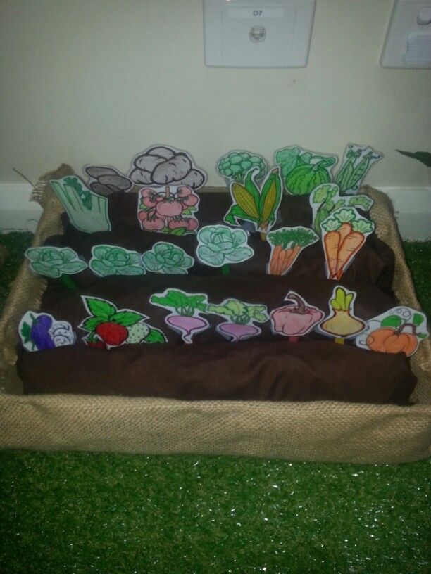 Vegi patch I made for our dramatic play community garden/farmers market.