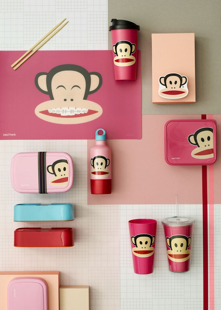 Paul Frank, Pink Lunch set, Design by Room Copenhagen