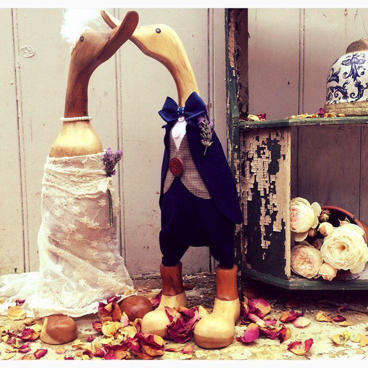A personal favourite from my Etsy shop https://www.etsy.com/uk/listing/232817228/beautiful-bespoke-wedding-ducks-all-hand