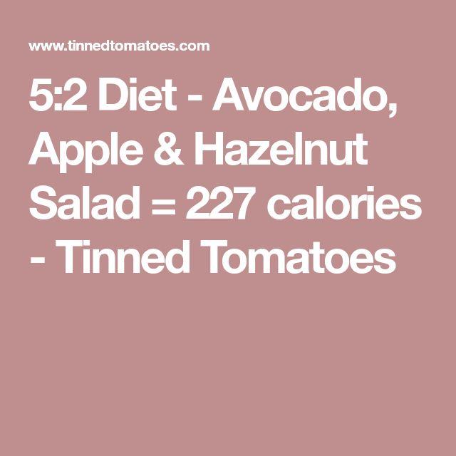 5:2 Diet - Avocado, Apple & Hazelnut Salad = 227 calories - Tinned Tomatoes