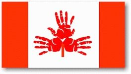 Handprint Canada Day Flags - Canada Day - July - KinderArt