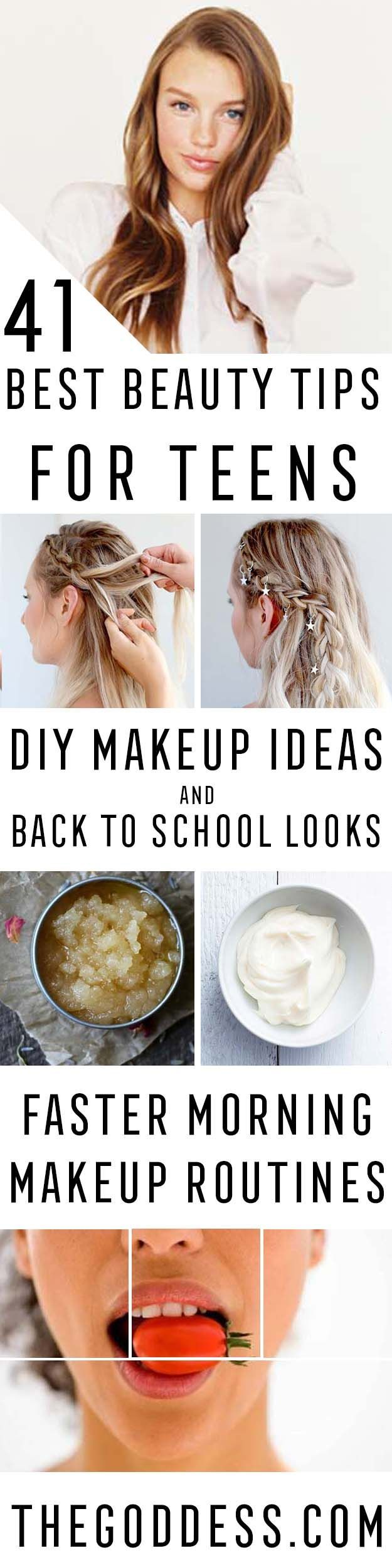 Best Beauty Tips For Teens - The Best Products And DIY Make Up Ideas For Losing Weight And Using Eye Makeup For Looking Cute When You Go Back To School. Makeup Ideas Beauty Tips Every Teen Should Know. Beauty Tips For A Faster Morning Routine And Homemade DIY Beauty Tips And Tricks For Teenage Girls. Some Beauty Tips For Face And Glowing Skin And Simple Beauty Tips To Fight Acne And Prevent Breakouts And Blackheads. Get Rid Of Pimples And Acne Scars. Teenage Makeup Kits And Products Covered…