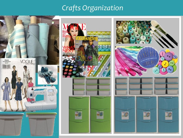 Organizecraft items in coordinating, coloured drawer units and accessory boxes. Colours available are turquoise (shown) bright green, and purple.    Accessory Boxes can hold scissors, thread, needles. buttons, all the smaller sewing items are organized and neatly stowed away. Or store your paints and brushes.    Three drawer units can be used for patterns, fabric, wool, craft books.    When you are organized crafting is such a pleasure!!
