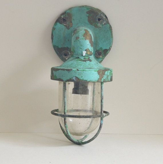 ship light bronze boat sconce original paintwork / by FRENCHWAVE, €100.00