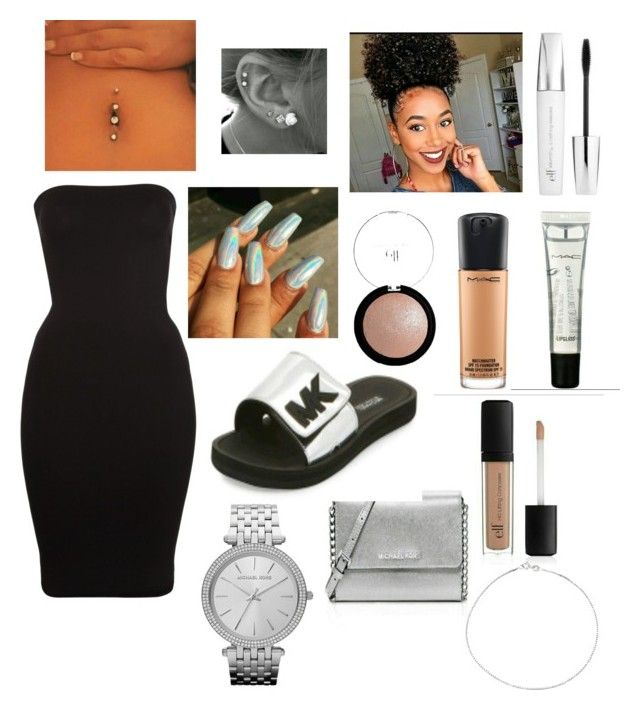 """Birthday outfit 😊"" by cailynn2004 on Polyvore featuring Wolford, MAC Cosmetics, Michael Kors and e.l.f."
