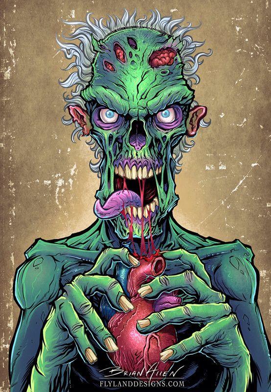 Zombie Art http://thinkcookcookworld.com/                                                                                                                                                                                 Más