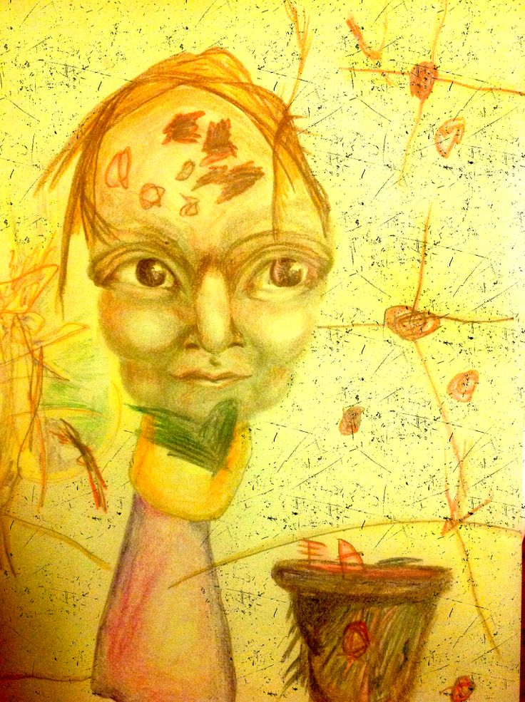 """Collaboration with my daughter, """"creation of freckles"""""""