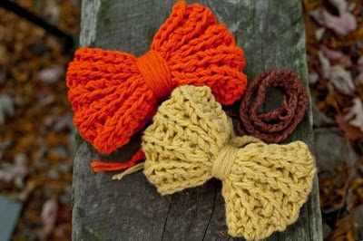 crocheted hair bow, I would like to learn to do this