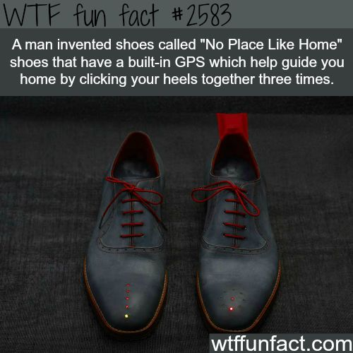 No Place Like Home shoes - WTF fun facts