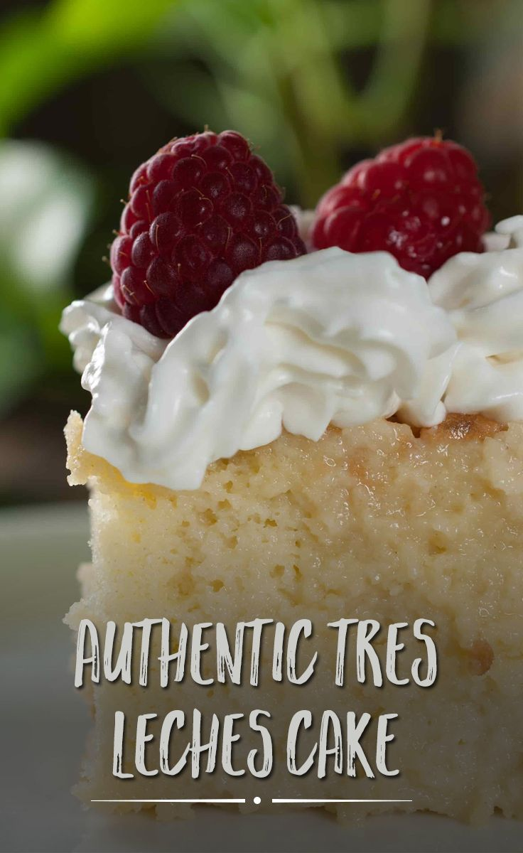 Tres Leches cake, otherwise called as Three Milk Cake. Sweet and moist two layer cake with vanilla sponge cake base completely soaked in three kinds of milk, topped with whipped cream.
