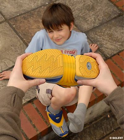 INCHworm shoes that grow with your feet.  Why were these not invented sooner?