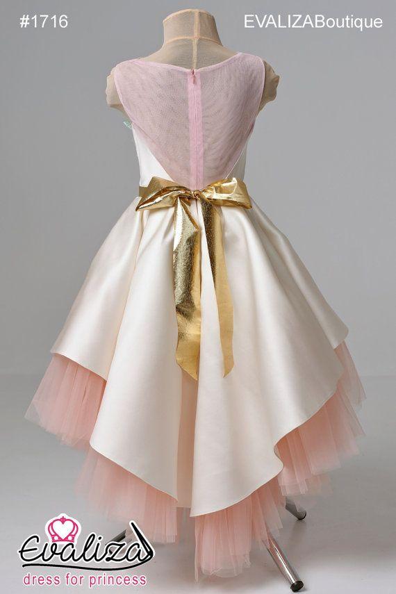 VENTA Rosa flor chica vestido de cumpleaños de Dama de honor